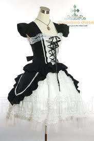 Kết quả hình ảnh cho lolita gothic màu đen