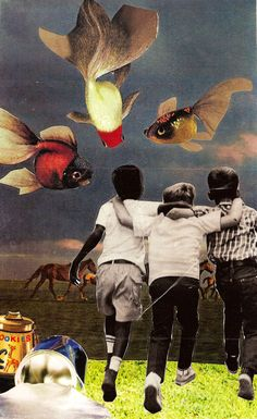 "Saatchi Online Artist: Hailey Gaiser; Photomontage, 2010, Assemblage / Collage ""Into America"""