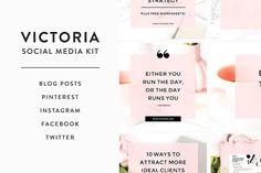 Victoria Social Media Kit by Bluchic on @creativemarket