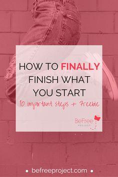 How to FINALLY finish what you start + Freebie #procrastination #goals #self…