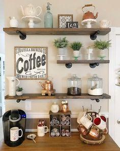 Coffee Area, Coffee Nook, Coffee Coffee, Starbucks Coffee, Coffee Beans, Coffee Syrups, Coffee Detox, Boss Coffee, Banana Coffee