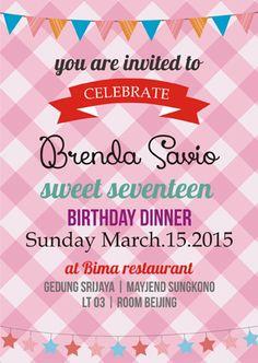 Undangan Ulang Tahun Unik | Undangan Sweet Seventeen | Undangan Ulang tahun Anak