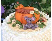 FALL BABY SHOWER Pumpkin Baby Shower Cake Topper Thanksgiving baby shower fall autum cake topper fall leaves fondant baby halloween baby