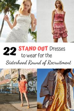 These are 15 incredibly cute dresses that are perfect for the Sisterhood Round of Recruitment Sorority Recruitment Tips, Sorority Rush Week, Sorority Recruitment Outfits, Marina Dress, Cute Dresses, Summer Dresses, Button Down Dress, Lettuce, Lust