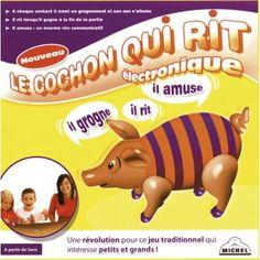 La 1ère version électronique du cochon qui rit... #Le cochon qui rit # Piggyto #Gordita #Gordito #Piggyta www.jeuxdujardin.fr #Vintage