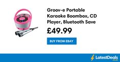 Groov-e Portable Karaoke Boombox, CD Player, Bluetooth Save £20 Free Delivery, £49.99 at ebay