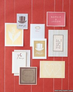 "See the ""Block-Print Cards"" in our  gallery"