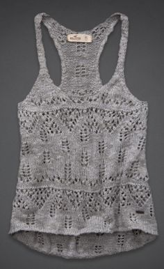 hollister tank top (inspiration to create a pattern)