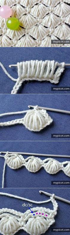 Watch This Video Beauteous Finished Make Crochet Look Like Knitting (the Waistcoat Stitch) Ideas. Amazing Make Crochet Look Like Knitting (the Waistcoat Stitch) Ideas. Crochet Diy, Love Crochet, Crochet Motif, Crochet Crafts, Yarn Crafts, Crochet Flowers, Crochet Projects, Mermaid Crochet Blanket, Puff Stitch Crochet