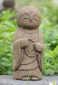 Jizo bosatsu. Japan-Collection-Healing-Ksitigarbha-made-of-Granite-JIZO-H-25-cm