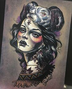#양머리소녀#작업도안 -액자에 넣기전💋 tattoo문의&상담:카톡ID:qpqpgi 010-9078-7474