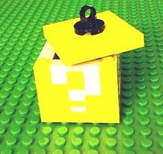 LEGO Custom SUPER MARIO Question Block / Box / Ornament NES Nintendo Retro Gamer
