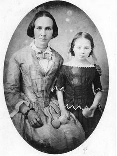 Zina Diantha Huntingdon Young and her daughter, also named Zina.