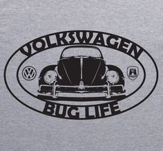 Volkswagen VW BEETLE BUG LIFE Vintage style grey T-Shirt by XBrosApparel ♠... X…