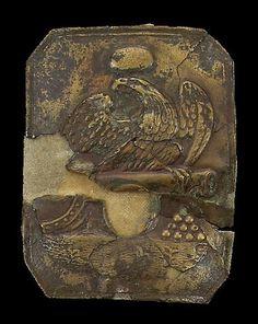 A relic Pattern 1814 artillery enlistedman's cap plate Metal Detecting Tips, British Uniforms, War Of 1812, Auction, Cap, Brass, Plates, Pattern, Baseball Hat