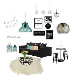 """""""Untitled #21"""" by nikolalazanska on Polyvore featuring interior, interiors, interior design, home, home decor, interior decorating, Winsome, Inspire Q, Americanflat and Pottery Barn"""