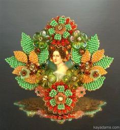 Large Stanley Hagler Floral Brooch