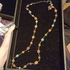 """Premier Designs """"Chiclet Necklace"""" Matte brass plated and multicolored acrylic beads. Worn 3 times. 36""""+4"""" removable extension. Double lobster claw for more length options. Can also be worn as a bracelet. Premier Designs Jewelry Necklaces"""
