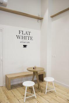 Artisan Cafe, Espresso Bar, Homemade Desserts, White Flats, White Tiles, Cafe Design, Athens, Lighting Design, Interior Architecture