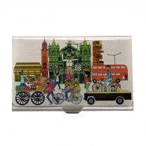Mumbai Life White Steel Card Holder by The Elephant Company