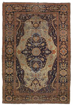 Two similar Kashan `Mohtashem' rugs, Central Persia  Sotheby's