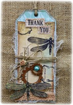 Saying Thanks with Bo Bunny's Somewhere In Time collection
