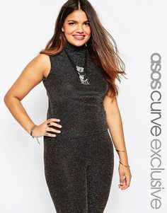 ASOS Curve ASOS CURVE Sleeveless Top In Gold Holidays Sparkle *** Check this awesome product by going to the link at the image.