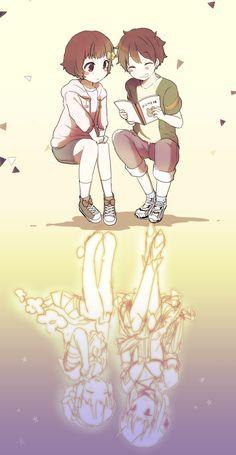 Koyuki Himekawa / Snow White y Kishibe Souta / La Pucelle Anime Chibi, Manga Anime, Anime Art, Magical Girl Raising Project, Maho, Anime Was A Mistake, Blue Haired Girl, Dark Fantasy Art, Cultura Pop