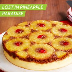 We wouldn't mind getting lost in Pineapple Upside-Down Cheesecake paradise ;) #dessert #recipe