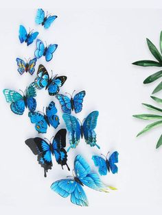 To find out about the Butterfly Wall Decors at SHEIN, part of our latest Wall Art ready to shop online today! 3d Butterfly Wall Decor, 3d Butterfly Wall Stickers, Wall Decor Stickers, Blue Butterfly, Home Decor Wall Art, Bedroom Decor, Bedroom Ideas, My New Room, Decoration