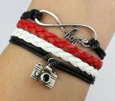 I. MUST. HAVE.!!!!!!!   Infinity hope bracelet camera bracelet antique by handworld, $4.99