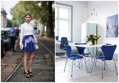 Azul klein: fashion x decor #fashion #decor #azulklein #klein #casadasamigas
