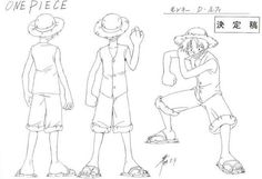 Monkey D. Luffy sheet, Official reference, Settei