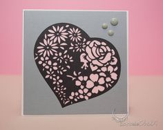 Awesome SVGs: Lacy Heart, Triple Layer Square Card