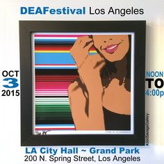 Please stop by our art exhibit on Saturday Oct. 3rd at DEAFestival in Los Angeles, CA. We will be displaying our artwork and offering commission artwork. More info at http://www.deafestivalla.org/ ------------------------ #art #artist #popart #popartist #digitalart #contemporary #contemporaryart #deafestival #losangeles #deaf #asl #americansignlanguage #deafartist #califorina #localartist #localbusiness #culture #jonsavagegallery