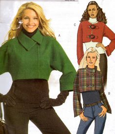 Sewing Pattern Butterick 5089 Cropped Jacket Size 16 to 22 Uncut Complete