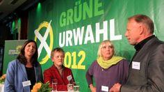 Die Top-Bewerber: Katrin Göring-Eckhardt, Renate Künast, Claudia Roth und Jürgen Trittin (von links)