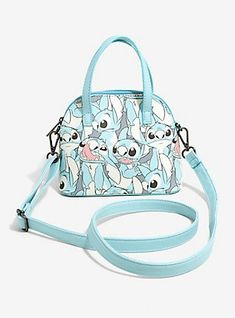 Disney Lilo & Stitch Light Blue Mini Dome Crossbody Bag, , hi-res Stitch Backpack, Backpack Purse, Crossbody Bag, Stitch Toy, Cute Stitch, Lelo And Stich, Disney Stich, Cute Disney Outfits, Cute Mini Backpacks
