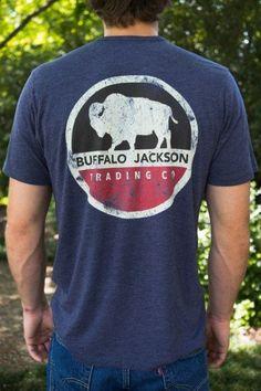 c84064e738411a Buffalo Jackson Retro Logo - Graphic Tee Graphic Tee Shirts