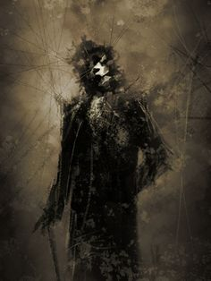 The groom.by Arnaud de Vallois Creepy Dude, Creepy Art, Scary, Creepy Clown, Dark Fantasy, Fantasy Art, World Of Darkness, Afraid Of The Dark, Horror Art