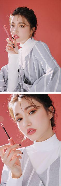 son lì Near And Dear (hồng đất) 3ce Makeup, Beauty Makeup, Hair Makeup, Hair Beauty, Asian Makeup, Korean Makeup, Korean Beauty Tips, Divas, Beauty Shoot