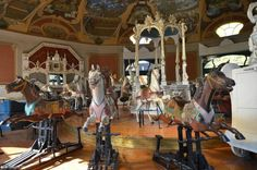 The 110 years old merry-go-round of Budapest Budapest's century-old wooden-horse carousel – one of the most historic in Europe – once welcomed jolly crowds for joyous rides aboard its intricately. Wooden Horse, Merry Go Round, Budapest Hungary, Carousel, Europe, History, Historia, History Activities, Carousels