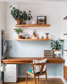 Who else would be 10x more productive if they had this office? 🙋🏼‍♀️• • Here's the shot of the office from the mother of plants project! •… Office Decor, The Office, Plant Projects, Houzz, Rooms Home Decor, Clutter, Productivity, Corner Desk, Open Concept Home