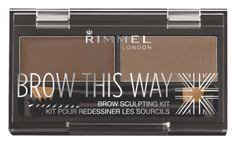 Shine bright with these skin products: Rimmel Brow This Way Brow Sculpting Kit In Medium Brown- R80