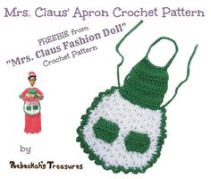 Crochet Mrs. Barbie Claus' Apron ~ Freebie Pattern by Rebeckah's Treasures