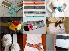 Lovely belts from A Lemon Squeezy Home.