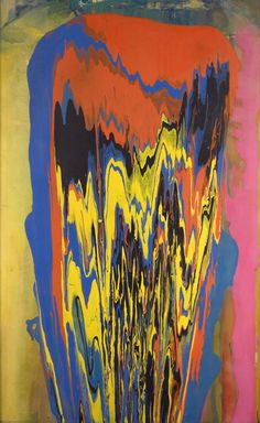 Tony's Anvil, 1975 - Frank Bowling (poured painting)