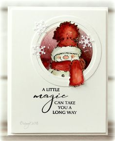 My card for the sketch at CAS Colours & Sketches this week! I used my dear Snowy from Penny Black Snowy and a sentiment from thi. Christmas Cards 2018, Homemade Christmas Cards, Xmas Cards, Homemade Cards, Handmade Christmas, Holiday Cards, Christmas Vacation, Christmas Jewelry, Penny Black Cards