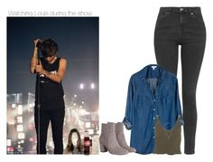 """Watching Louis during the show"" by sexyirishman ❤ liked on Polyvore featuring art"