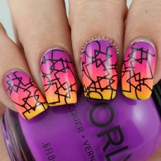 Last up for #bomnailartmay is mixed shapes. I love how this turned out. Polishes used are from @orlynails Adrenaline Rush collection (Be Daring, Risky Behavior, Push The Limit and Thrill Seeker) and #konad black for the stamping. Stamping design is from a #bornprettystore ( don't forget to use my code NYJ61 for a 10 % discount ). #orly #notd #nails #nailpolish #nailart #nailartaddict #aussienails #neonnails